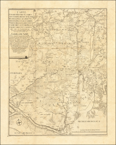 63-Norddeutschland Map By J. C. G. Fritzsch