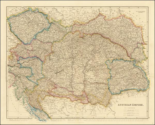 91-Germany and Austria Map By John Arrowsmith