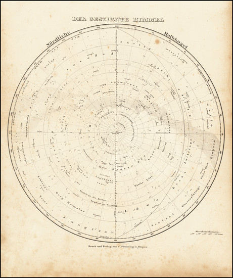 77-Celestial Maps Map By Carl Ferdinand Weiland