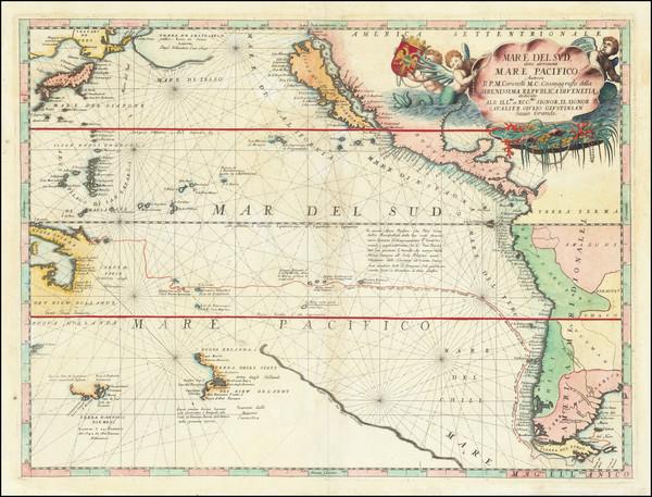 1-Australia & Oceania, Pacific, Australia, Oceania, New Zealand, Hawaii and California Map By