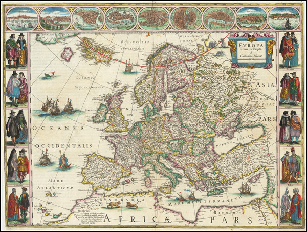 99-Europe Map By Willem Janszoon Blaeu