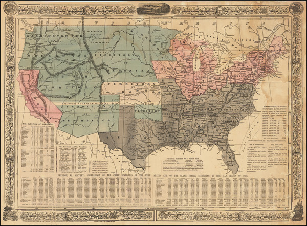 67-United States and Civil War Map By William C. Reynolds