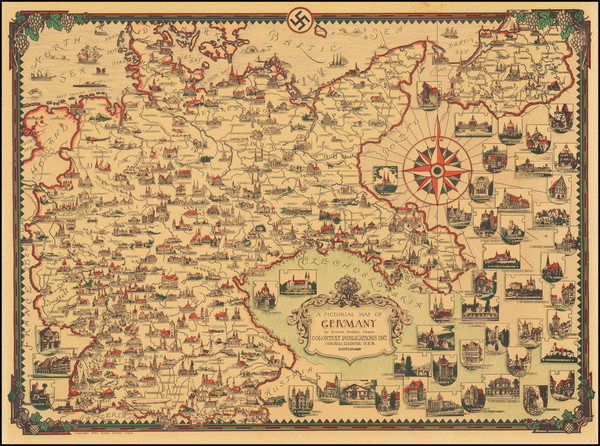 26-Germany and World War II Map By Ernest Dudley Chase