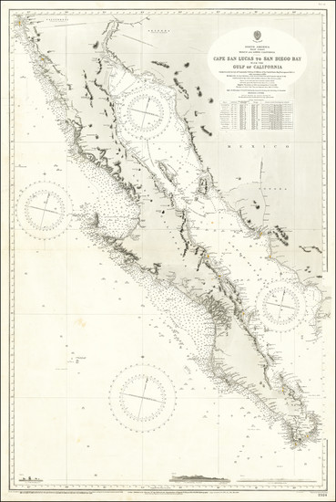 96-Baja California and California Map By British Admiralty