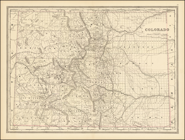 14-Colorado and Colorado Map By George F. Cram