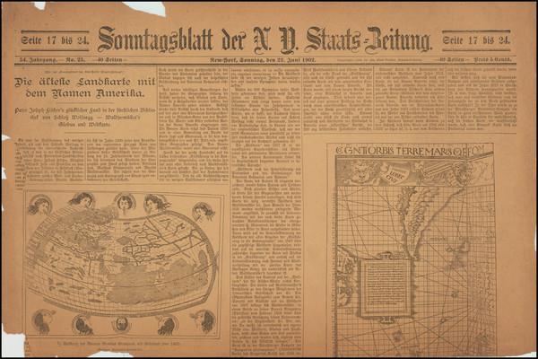 93-Curiosities Map By New-Yorker Staats-Zeitung