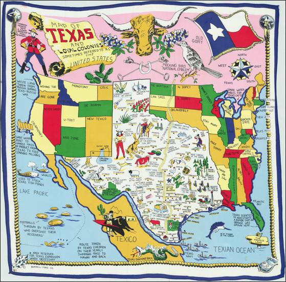 20-Texas Map By Jones