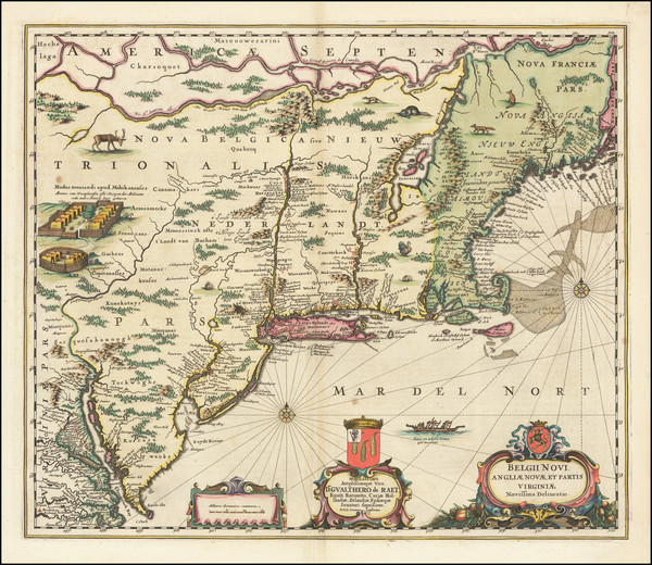 39-New England, New York State and Mid-Atlantic Map By Jan Jansson