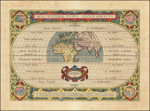 97-World Map By Abraham Ortelius