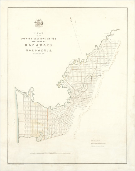 4-New Zealand Map By Smith, Elder & Co.