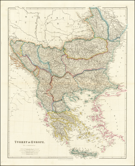 28-Balkans, Greece and Turkey Map By John Arrowsmith