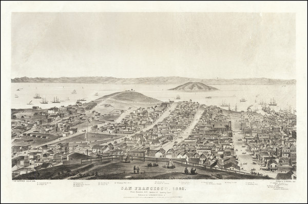 12-San Francisco & Bay Area Map By Charles   Braddock Gifford