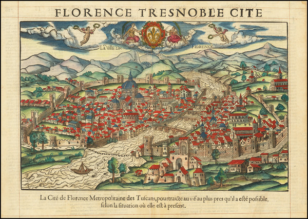 41-Other Italian Cities Map By Francois De Belleforest