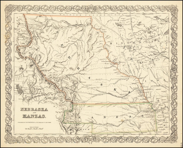 6-Plains, Kansas, Nebraska, Colorado, Rocky Mountains, Colorado and Montana Map By Joseph Hutchin