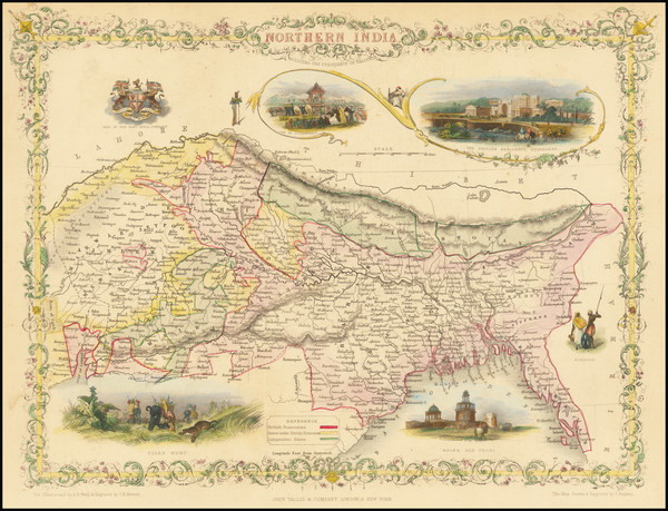 9-India and Central Asia & Caucasus Map By John Tallis