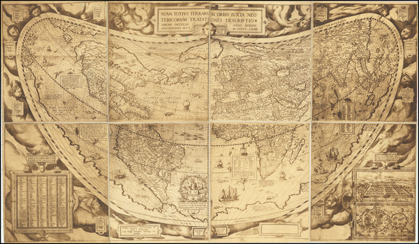 50-World Map By Abraham Ortelius