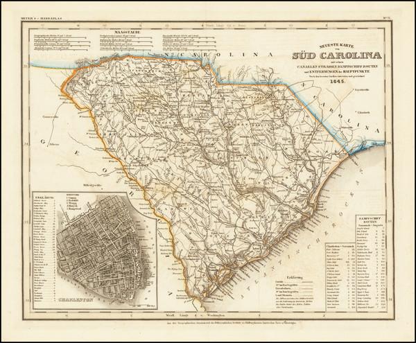 86-South Carolina Map By Joseph Meyer  &  Carl Radefeld