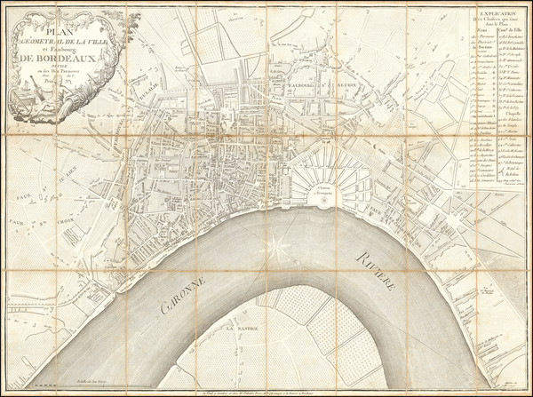 78-Other French Cities Map By Filliatre Frere