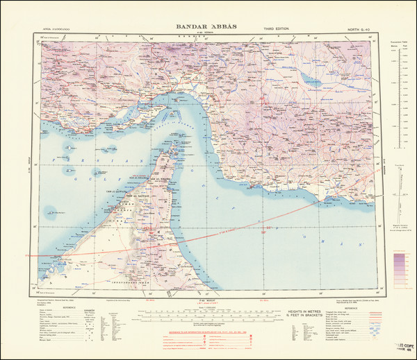 72-Middle East, Arabian Peninsula, Persia and World War II Map By War Office