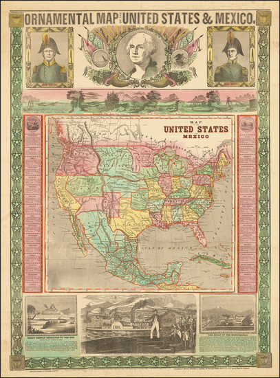 36-United States, North America and Mexico Map By Humphrey Phelps