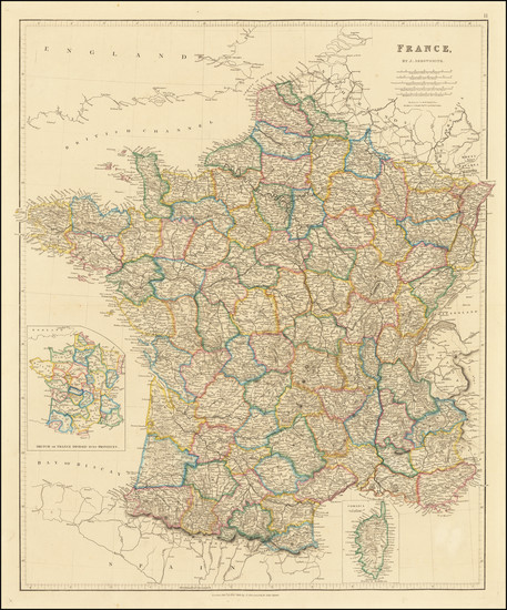 49-France Map By John Arrowsmith