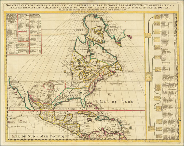 25-North America Map By Henri Chatelain