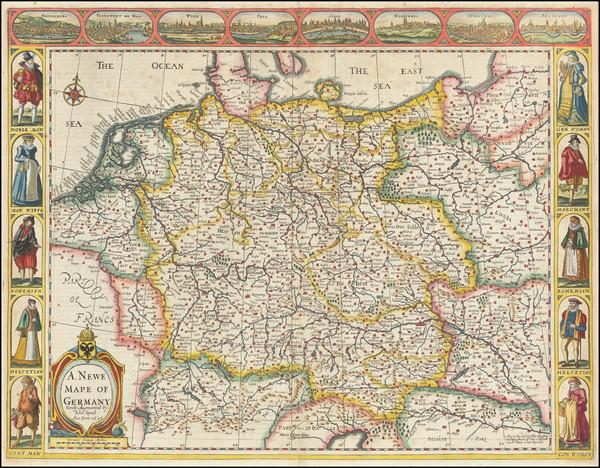 91-Germany Map By John Speed