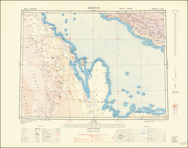 54-Middle East and Arabian Peninsula Map By Geographical Section, War Office (UK)