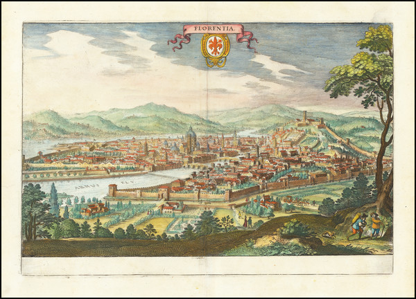 48-Other Italian Cities Map By Matthaus Merian