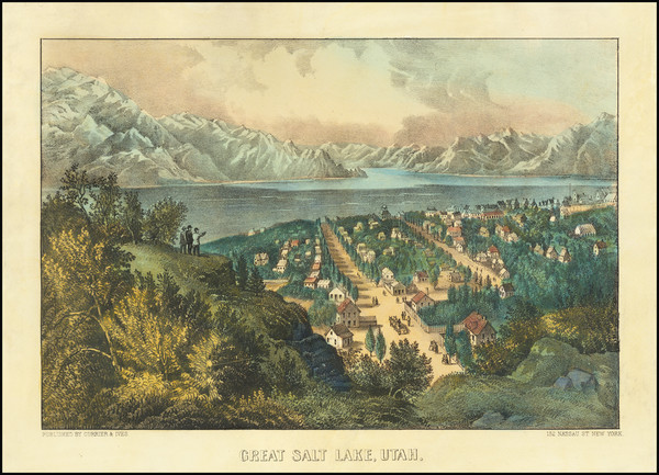 58-Utah and Utah Map By Nathaniel Currier  &  James Merritt Ives