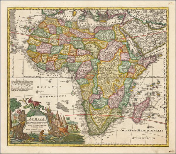 31-Africa Map By Matthaus Seutter
