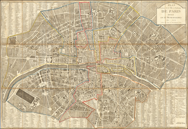 41-Paris Map By Pierre Jean