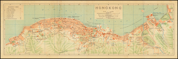 33-Hong Kong Map By Imperial Japanese Government Railways