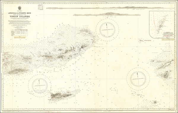 61-Caribbean, Puerto Rico and Virgin Islands Map By British Admiralty