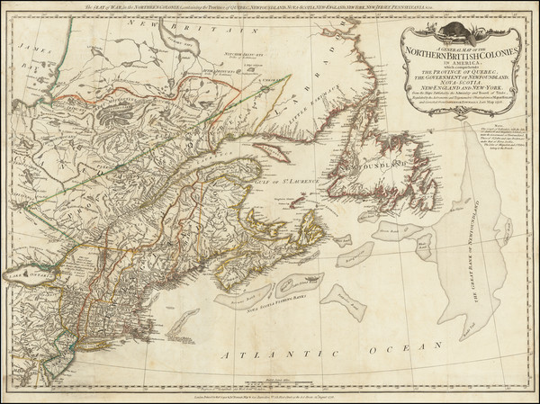 29-New England, Canada and Eastern Canada Map By Robert Sayer  &  John Bennett
