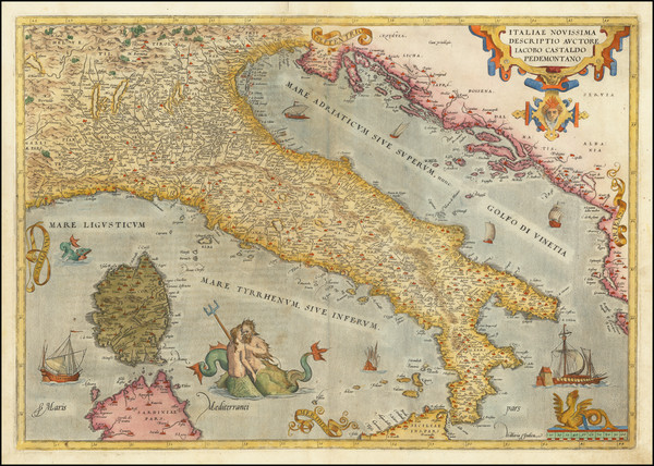 94-Italy Map By Abraham Ortelius