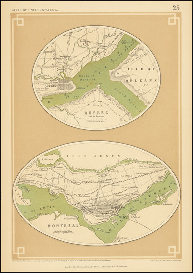 16-Canada Map By Henry Darwin Rogers  &  Alexander Keith Johnston