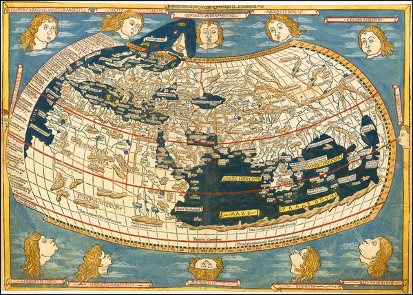 8-World Map By Claudius Ptolemy / Lienhart Holle