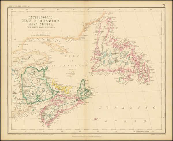100-Canada Map By Henry Darwin Rogers  &  Alexander Keith Johnston