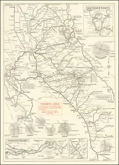 47-Yosemite Map By Yosemite Lodge