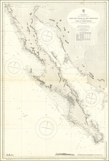 51-Baja California and California Map By British Admiralty