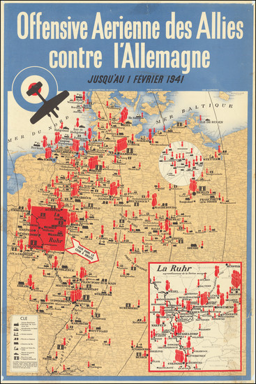 57-Germany, Pictorial Maps and World War II Map By J. Weiner LTD