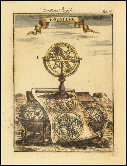 67-Curiosities and Celestial Maps Map By Alain Manesson Mallet