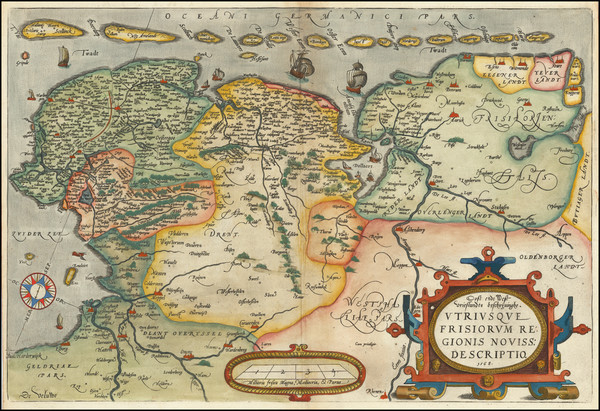 92-Netherlands Map By Abraham Ortelius