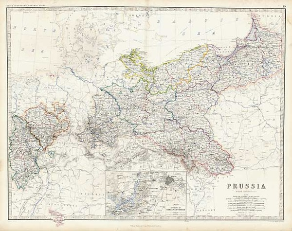 42-Europe, Germany, Poland and Baltic Countries Map By W. & A.K. Johnston