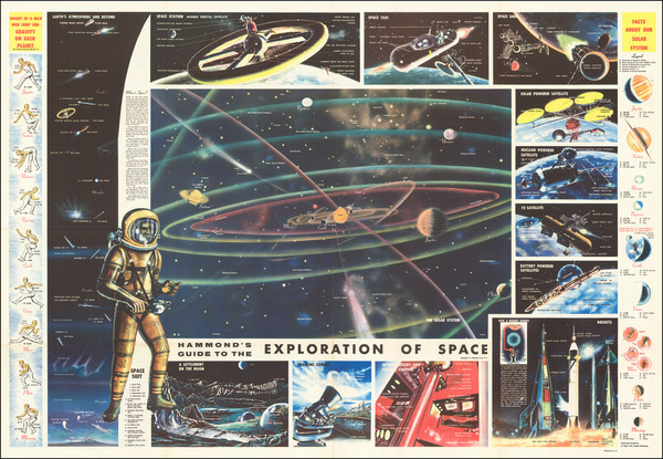 53-Space Exploration Map By Hammond & Co.