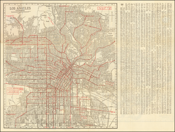 37-Los Angeles Map By Hill Map Company