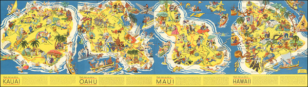 86-Hawaii, Hawaii and Pictorial Maps Map By Ruth Taylor White