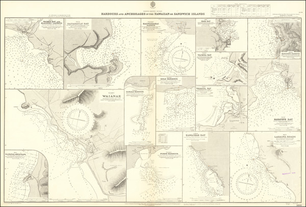 99-Hawaii and Hawaii Map By British Admiralty