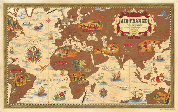 99-World and Pictorial Maps Map By Lucien Boucher